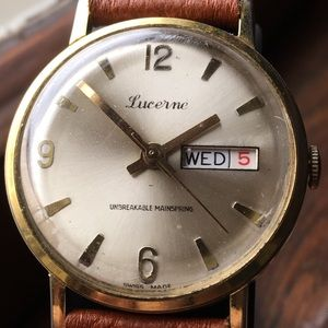 1970s Lucerne Swiss Watch.